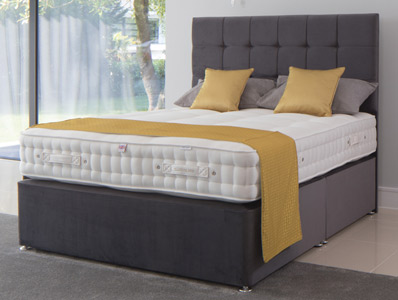 Millbrook Ryeland Wool 2000 Pocket Divan Bed