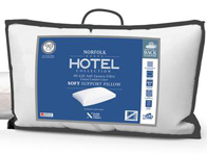 Norfolk Hotel Collection Medium Support Back  Sleeper Pillow
