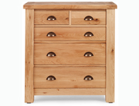 Originals Normandy Distressed French Oak 2 over 3 Chest