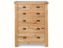 Originals Normandy Distressed French Oak 2 over 4 Drawer  Chest