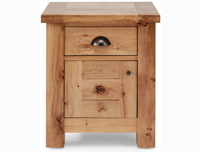 Originals Normandy Distressed French Oak Bedside Cabinet