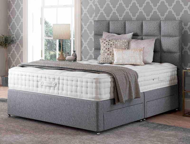 Relyon balmoral 2000 pocketed spring divan bed buy for The best divan beds