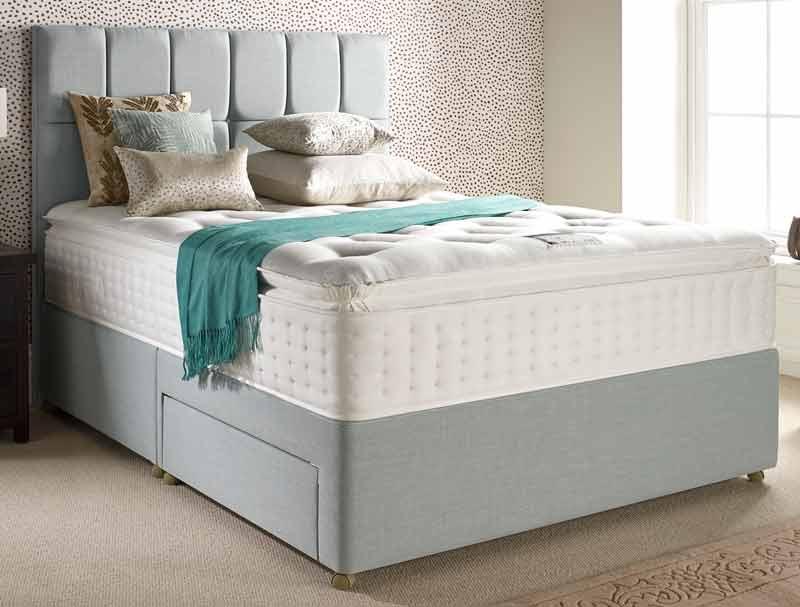 Relyon pillow top classic 1800 pocket divan bed buy for Best value divan beds