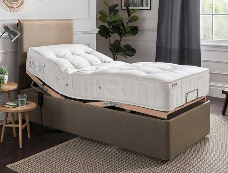 Best Value Adjustable Beds : Mi beds natural pocket firmer adjustable bed buy