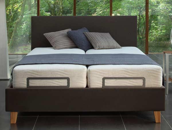 velda suffolk upholstered fabric adjustable bed frame - Adjustable Beds Frames