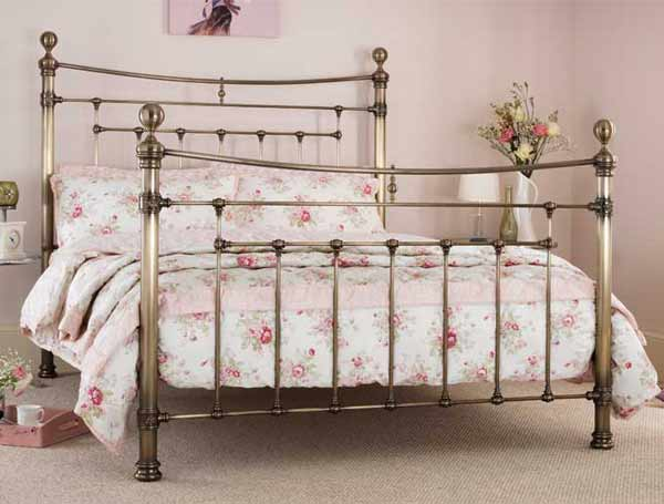 Serene Edmond Antique Brass Bed Frame Buy Online At