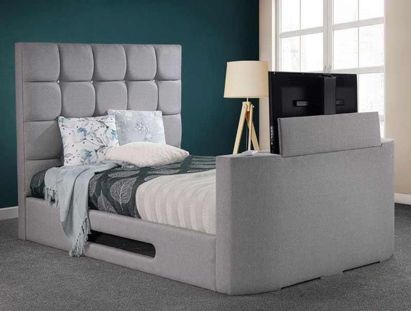 Sweet Dreams Jasmine Upholstered Tv Bed Frame