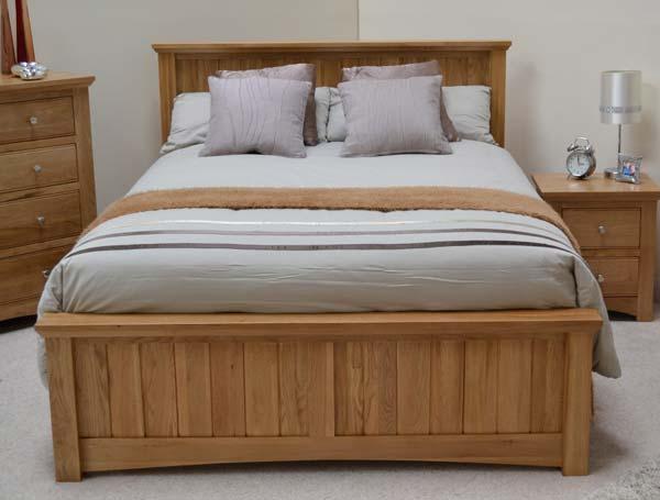 sleepcraft knightsbridge solid oak bed frame