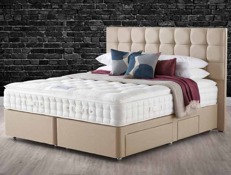 hypnos pillow top ruby 8 turn divan bed buy online at