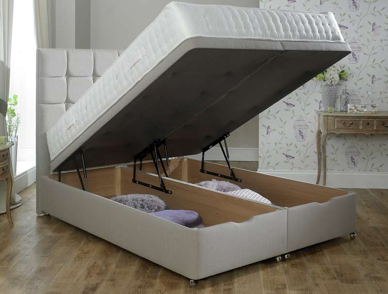 Relyon end lift ottoman divan base buy online at for Best divan beds uk