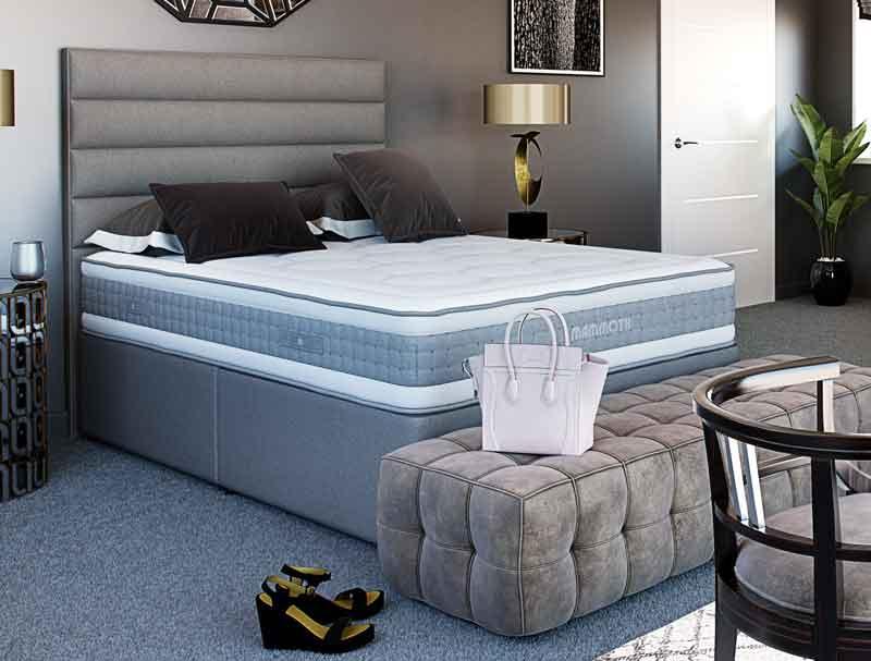 Mammoth Pocket Deluxe 2000 Divan Bed Hard Base Buy Online At Bestpricebeds