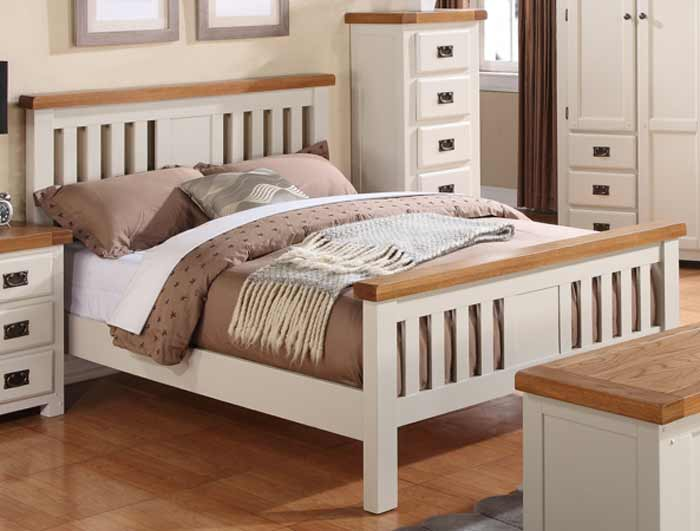 annaghmore heritage stone white oak bed frame - Oak Bed Frame