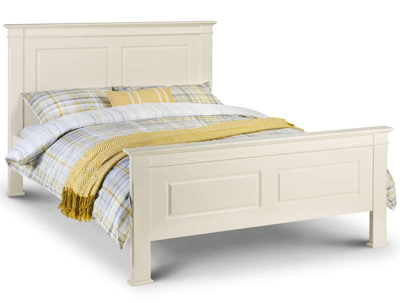 White Wooden King Size Bed Frame Julian Bowen La Rochelle Wood Only Buy