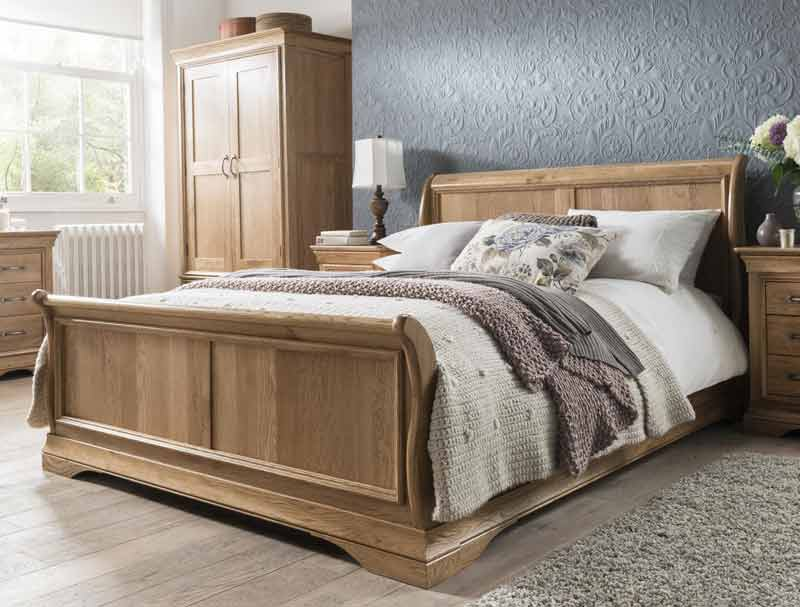 Kensington Oak Sleigh Bed Frame Buy Online At Bestpricebeds