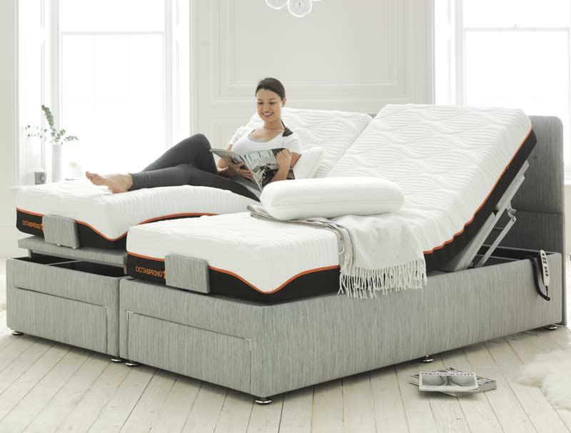 Dormeo Octaspring Matras : Dormeo octaspring tuscany 6500 adjustable bed buy online at