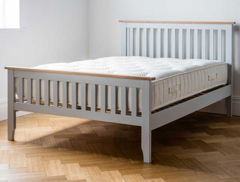Dreamworks Banbury Acacia Grey Painted Bed Frame With 1