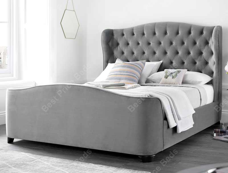 Kaydian Duchess Winged Fabric Bed Frame Buy Online At Bestpricebeds