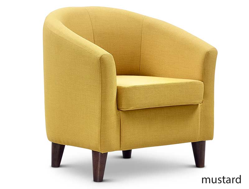 Jaybe Curve Tub Chair With Dark Wood Feet Buy Online At