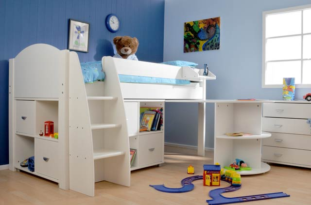 Stompa rondo 1 cabin bed buy online at bestpricebeds for Cabin beds for small rooms