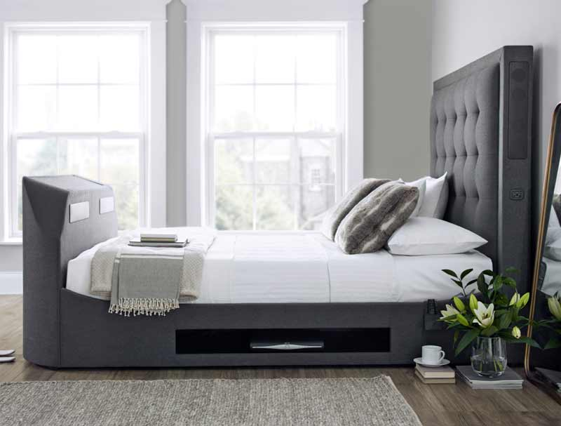 Kaydian Titan 2 Fabric TV Bed frame with Soundbar - Buy Online at  BestPriceBeds