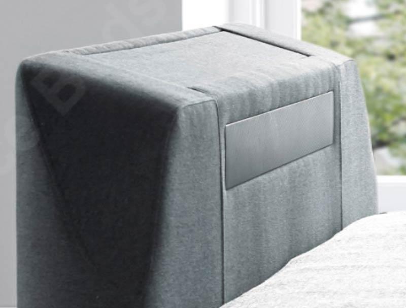 Excellent Kaydian Titan Fabric Tv Bed Frame With Soundbar At Bestpricebeds Co Uk Andrewgaddart Wooden Chair Designs For Living Room Andrewgaddartcom