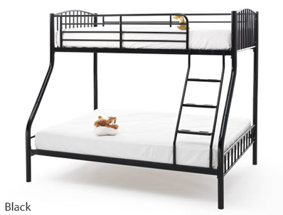 Serene Oslo Triple Metal Bunk Bed Buy Online At Bestpricebeds