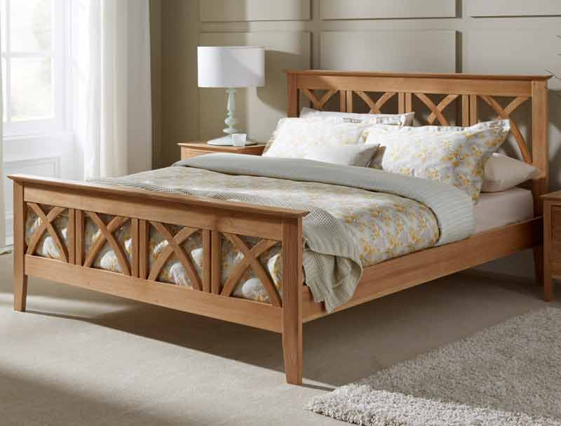 Serene Maiden Solid Oak Bed Frame Buy Online At