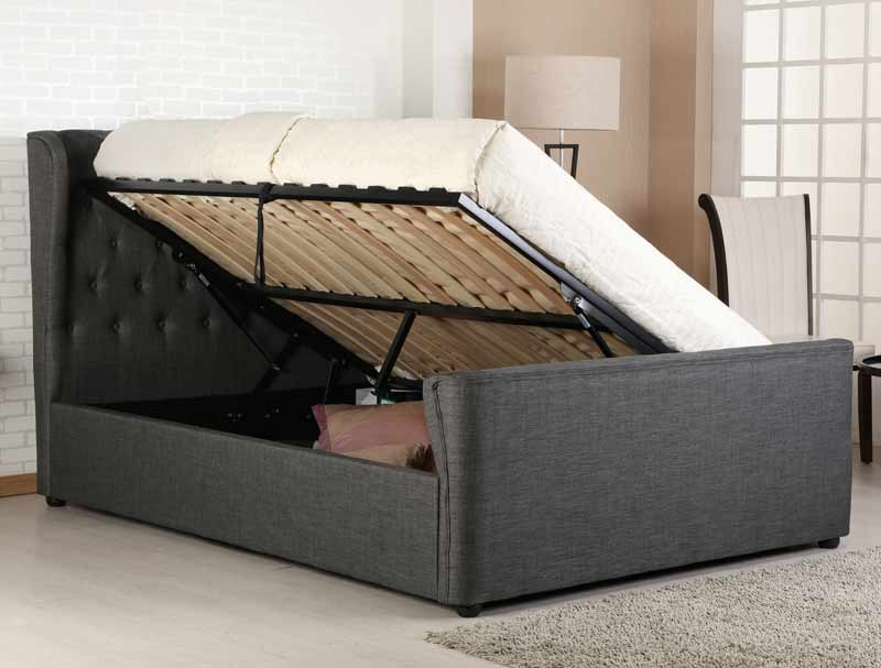Incredible Bestpricebeds Manton Winged Ottoman Bed Frame At Bestpricebeds Co Uk Creativecarmelina Interior Chair Design Creativecarmelinacom