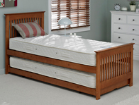 Relyon Duo Juno Oak Colour Wooden Guest Bed