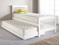 Relyon Duo   Juno  White Guest Bed