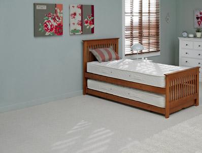 Relyon Juno Oak Colour Wooden Guest Bed
