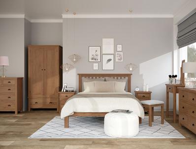 Royalle Antique Oak Bed Frame & Matching Furniture