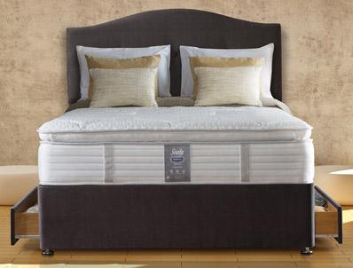 Sealy Guernsey 1000 PillowTop Geltex Divan Bed