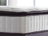 Sealy Nostromo 1400 Pillow Top Pocket & Latex Mattress Aubergine Trim Only