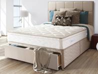 Sealy Pearl Geltex Posturpeadic Spring Divan Bed