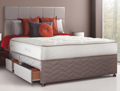 Sealy Pearl Latex Posture Spring Divan Bed