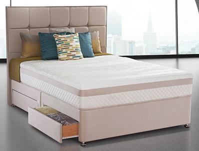 Sealy pearl reflexion divan bed buy online at bestpricebeds for Best value divan beds