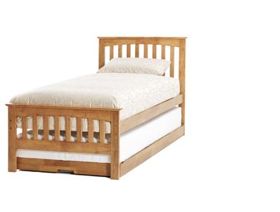 Serene Amelia Hevea Hardwood Guest Bed Frame