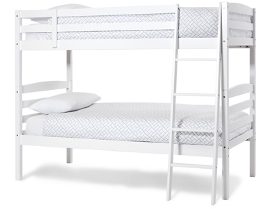 Serene Brooke Hevea White Hardwood Bunk Bed Frame