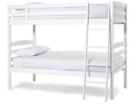 Serene Brooke Hevea White Hardwood Bunk Bed Frame