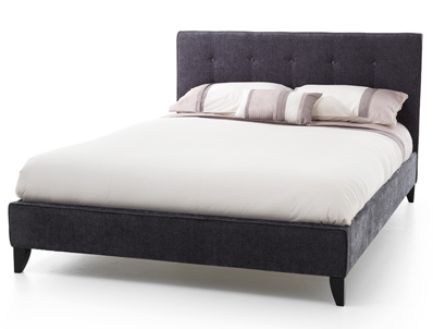 Serene Chelsea Charcoal Fabric Bed Frame