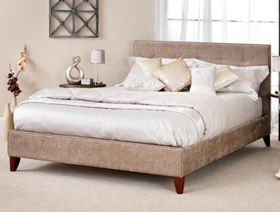 Serene Chelsea Fudge Fabric Bed Frame