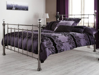 Serene Clara Black Nickel Bed Frame