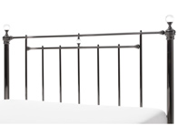 Serene Clara Black Nickel Metal Headboard