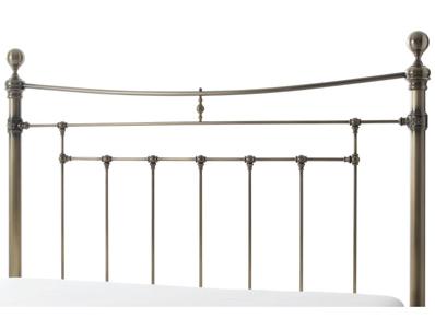 Serene Edmond Antique Style Brass Headboard