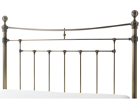 Serene Edmond Antique Style Brass Headboard