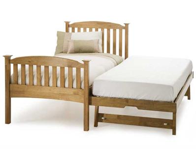 Serene Eleanor Hevea Rubberwood High Foot Guest Bed