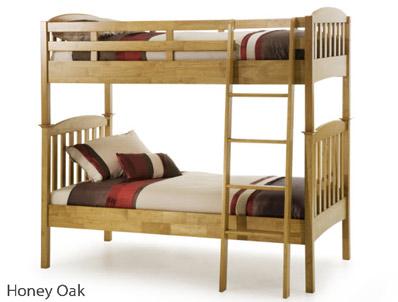 Serene Eleanor Hevea Wood Bunk Bed Limited Stock