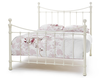 Serene Ethan Victorian Metal Bed Frame Ivory