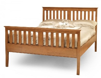 Serene Grace Small Double Golden Cherry Low foot end Bed Frame to Clear 1 Only